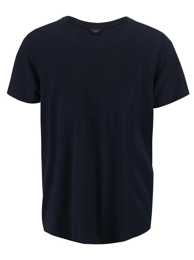 Tmavě modré triko s kapsou Jack & Jones Align