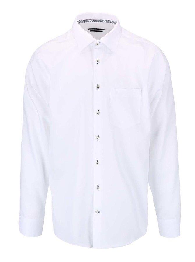 Biela košeľa s drobným vzorom Seidensticker Kent Stripe