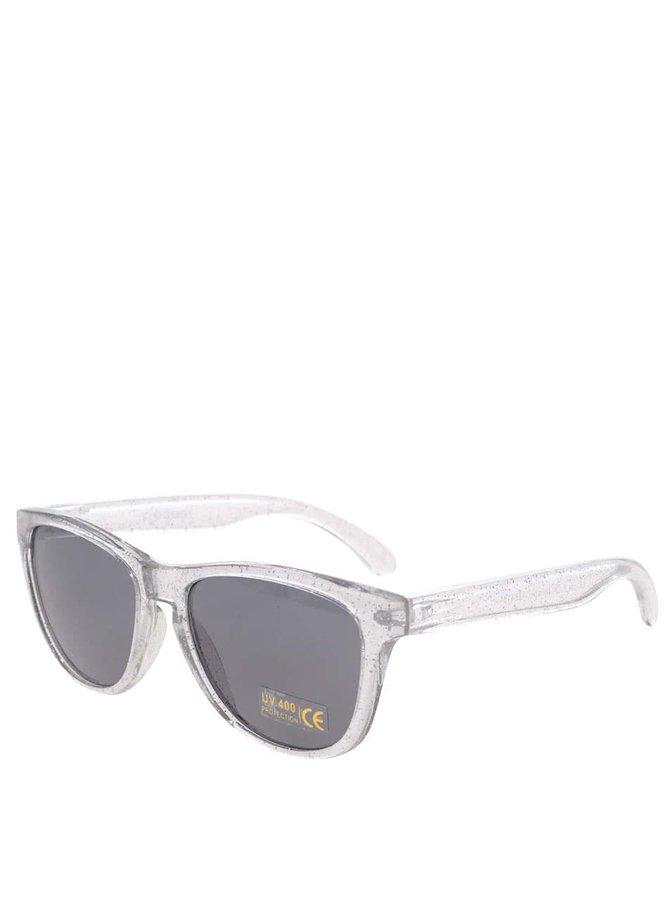 Transparentné slnečné okuliare v striebornej farbe Pieces Vibba