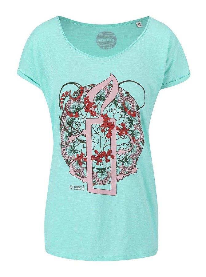 """""""Dobré"""" zelené dámské tričko pro Amnesty International"""
