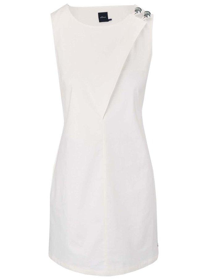 Krémové šaty s knoflíky Skunkfunk Gaila