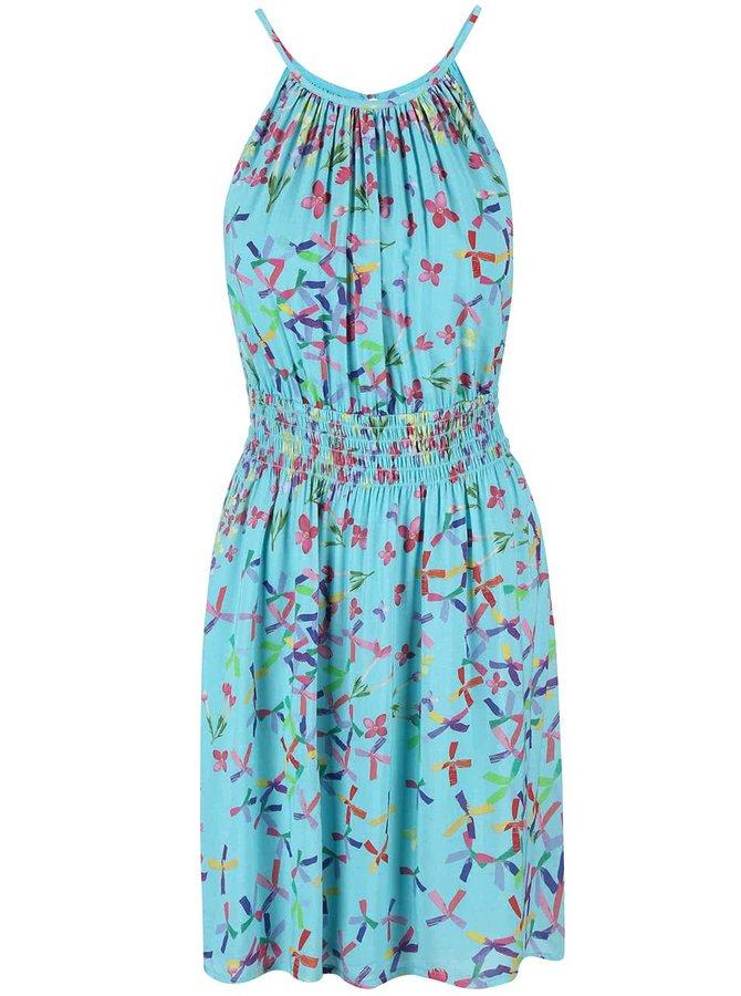 Modré šaty s farebnou potlačou Lavand