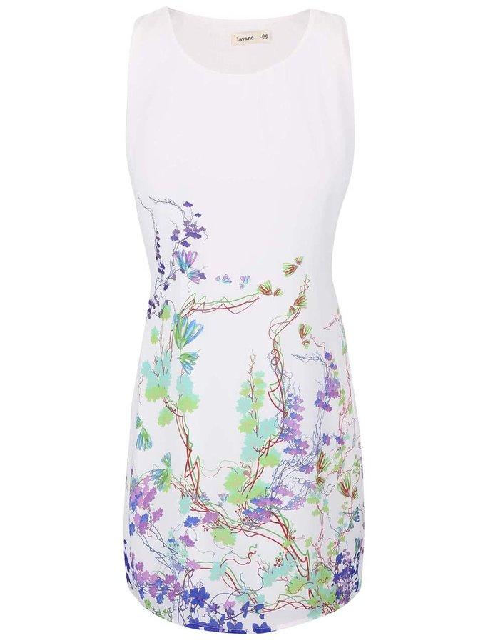 Krémové květované šaty Lavand