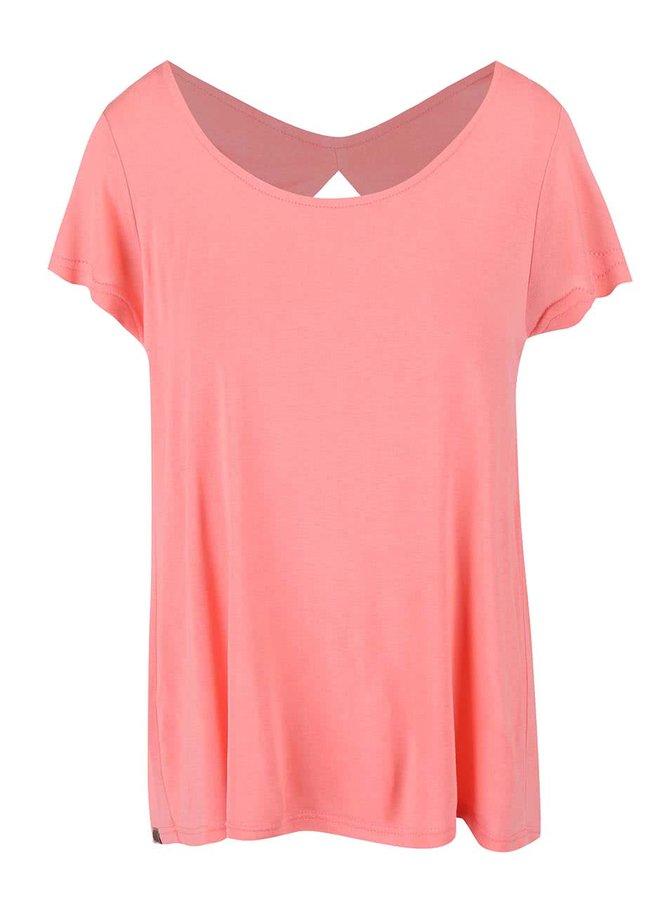 Růžové dámské tričko s výstřihem na zádech Bench Observe