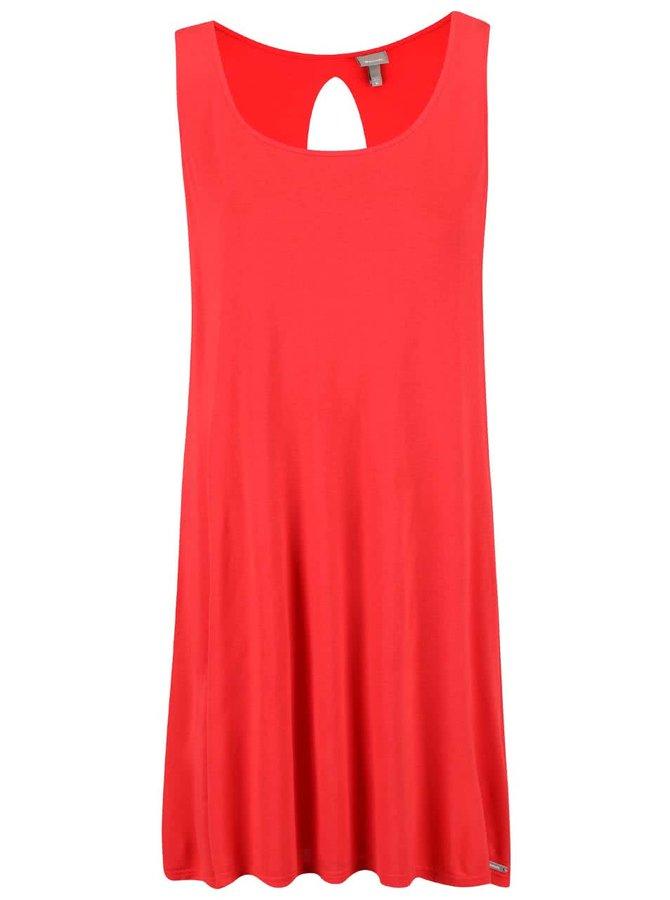 Červené šaty s výstrihom na chrbte Bench Restore