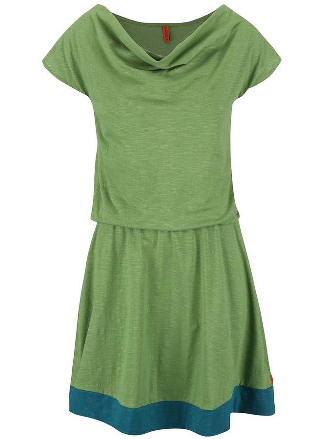 Rochie Tranquillo Jade verde cu albastru