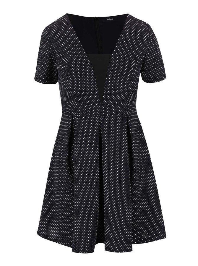 Bielo-čierne vzorované šaty Alchymi Volcan