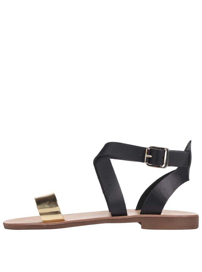 Černé kožené sandálky Dune London Lotti