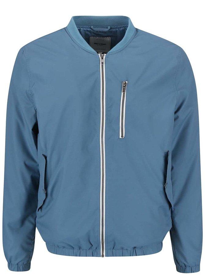 Jachetă ONLY & SONS Luc albastră