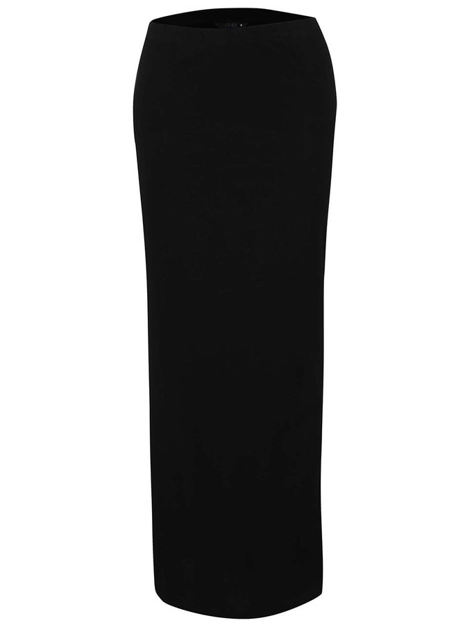 Čierna dlhá sukňa s rozparkami ONLY Abbie