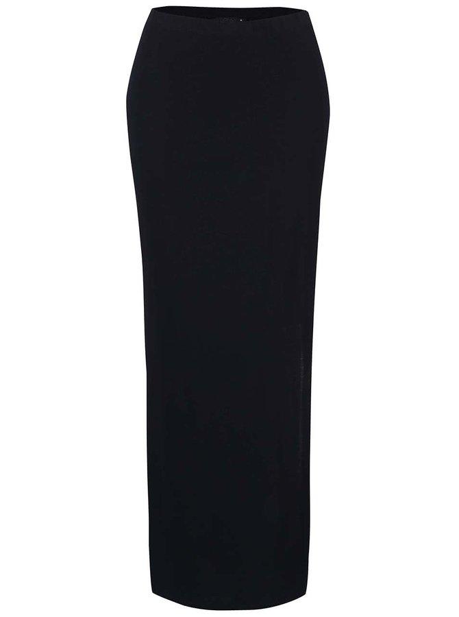 Tmavě modrá maxi sukně s rozparky ONLY Abbie