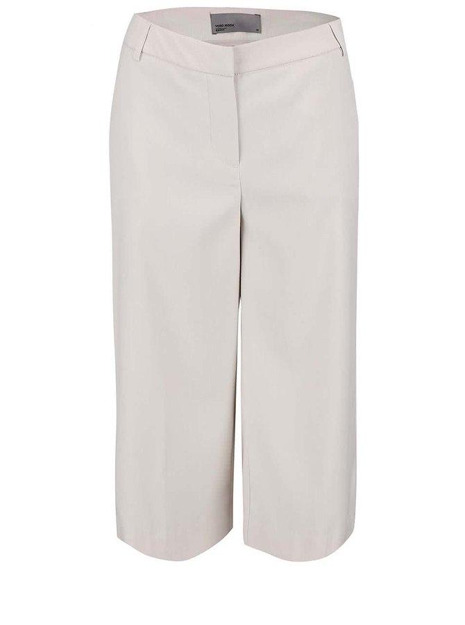 Pantaloni capri Vero Moda Roro crem