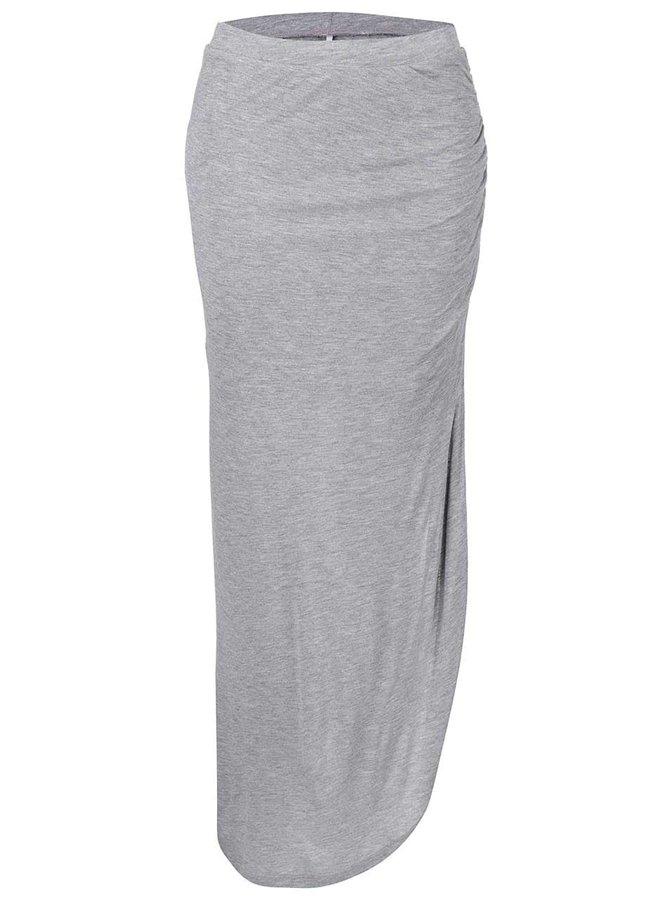 Sivá asymetrická sukňa Only New Ria