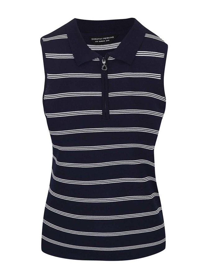 Top Dorothy Perkins navy, în dungi