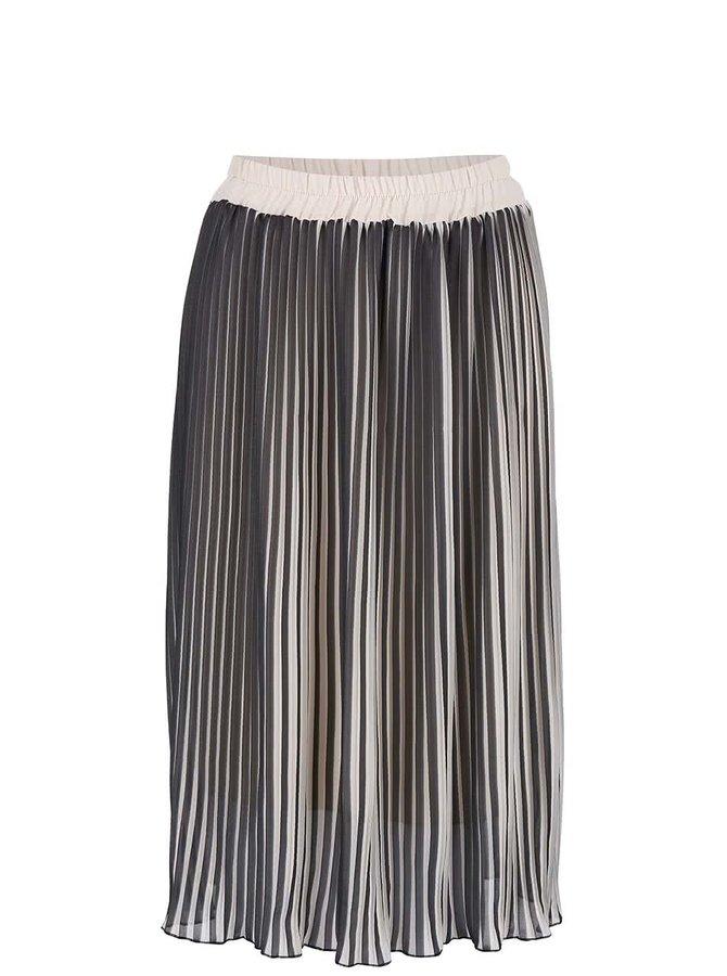 Béžovo-čierna plisovaná sukňa Alchymi Sunstone