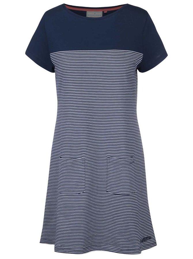 Tmavomodré pruhované šaty Brakeburn Nautical