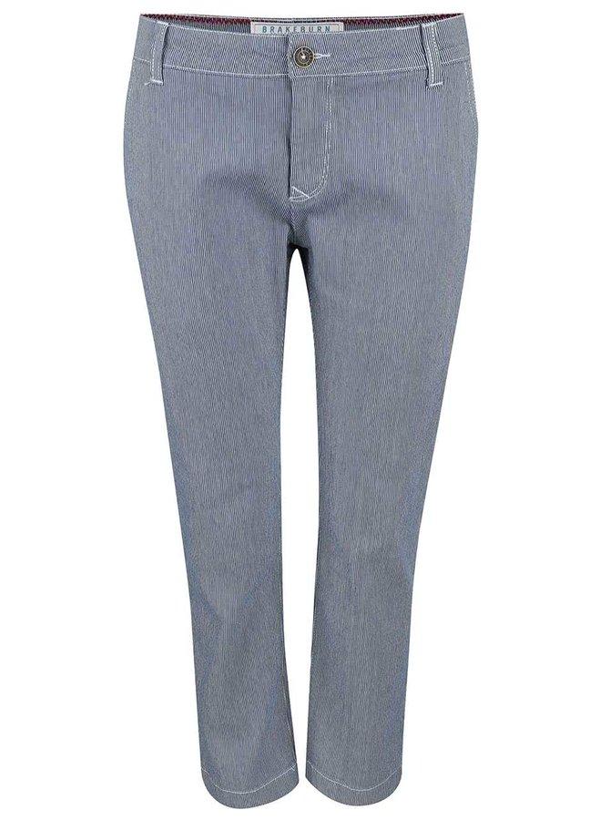 Modré pruhované chino kalhoty Brakeburn Fine