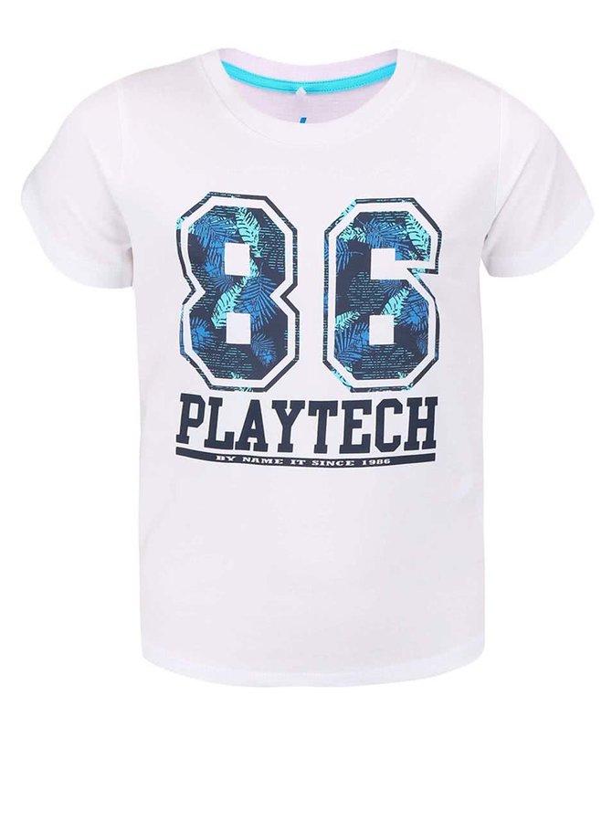 Tricou name it Pads alb cu imprimeu pentru băieți