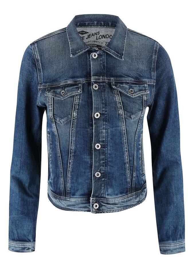 Modrá dámska rifľová bunda Pepe Jeans Core