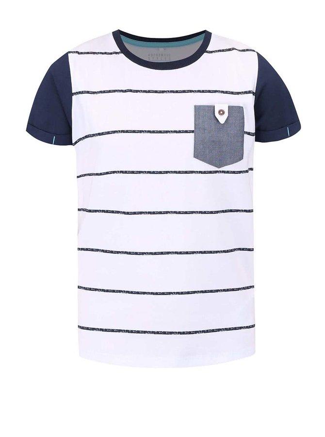 Bílé klučičí pruhované triko name it Gike