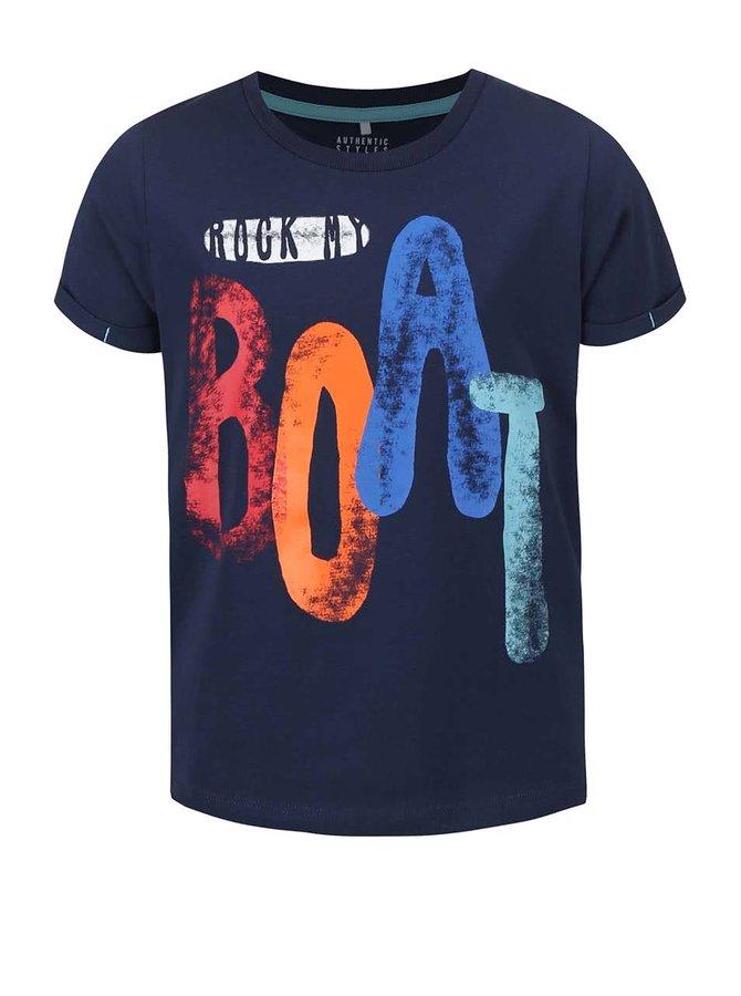 Modré klučičí triko s potiskem name it Gean