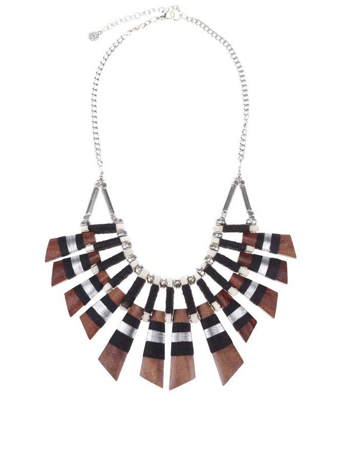 Výrazný náhrdelník ve stříbrné barvě Pieces Nulia