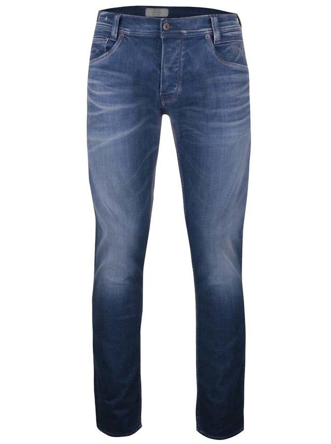 Modré pánske slim rifle Pepe Jeans Spike