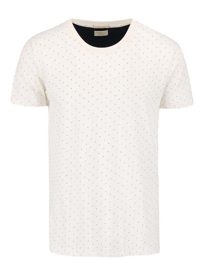 Krémové vzorované triko Selected Homme Luke