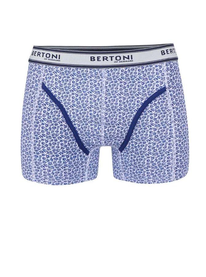 Modré vzorované boxerky Bertoni Vagn