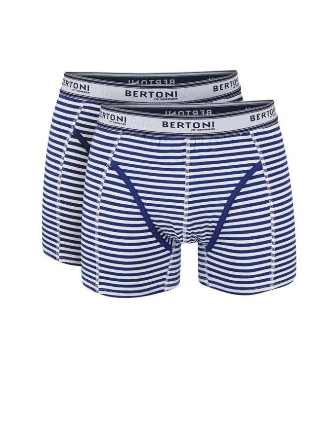 Kolekcia dvoch modrých boxeriek Bertoni Bertil