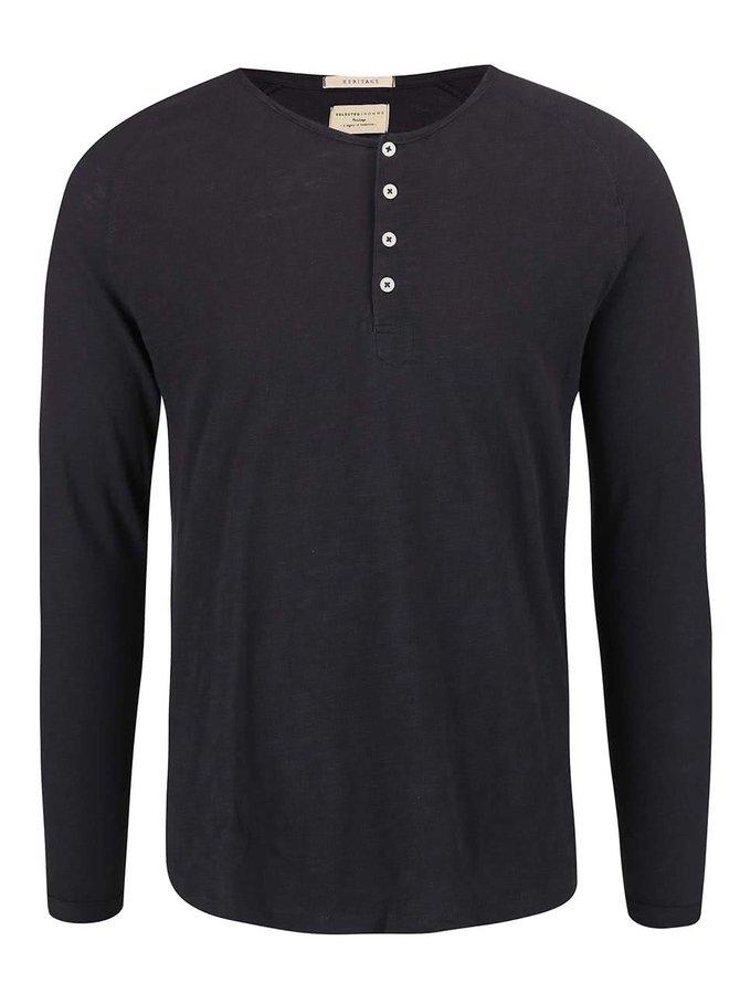 Tmavomodré tričko s dlhými rukávmi Selected Homme Carter