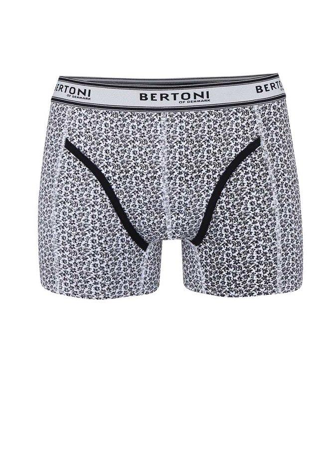 Čierne vzorované boxerky Bertoni Vagn