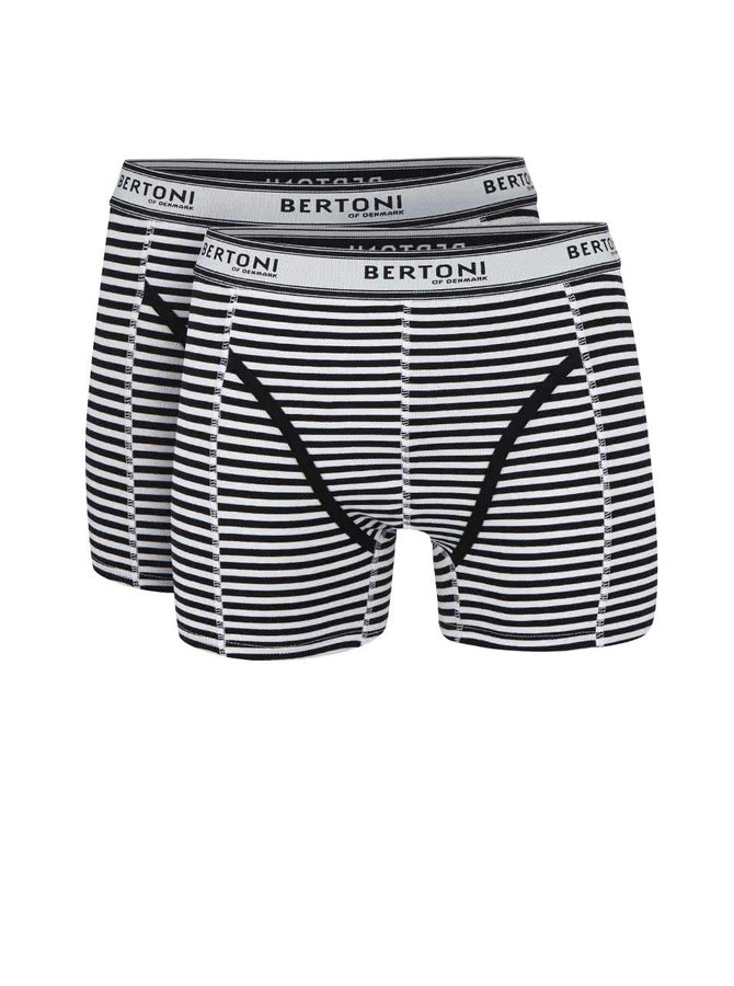 Kolekcia dvoch čiernych boxeriek Bertoni Bertil