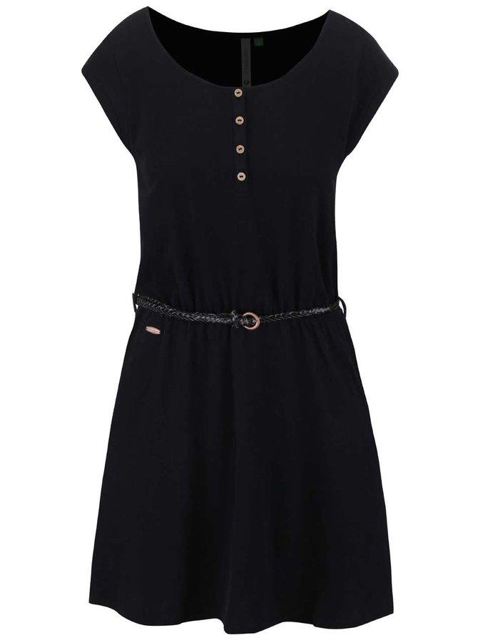 Černé šaty Ragwear Zephie Organic