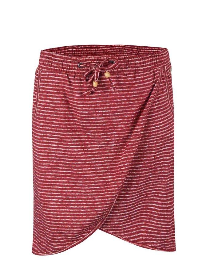 Červená pruhovaná sukňa Ragwear Naila