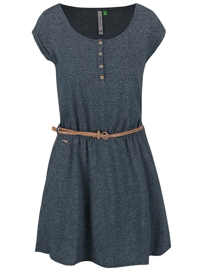 Petrolejové žíhané šaty Ragwear Zephie Organic
