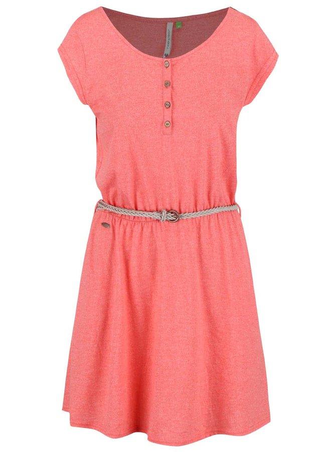 Korálové žíhané šaty Ragwear Zephie