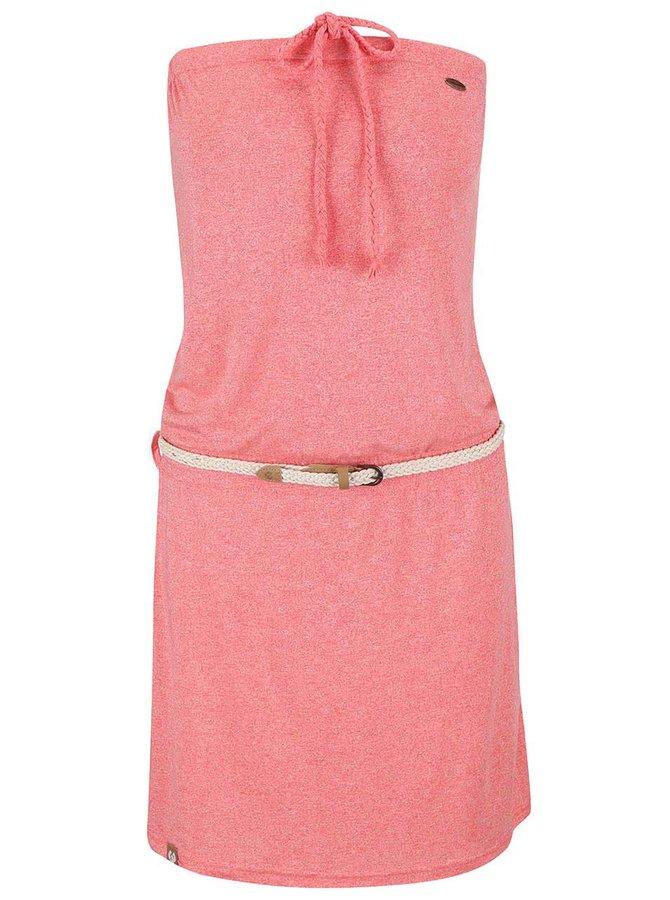 Koralové žíhané šaty Ragwear Chicka