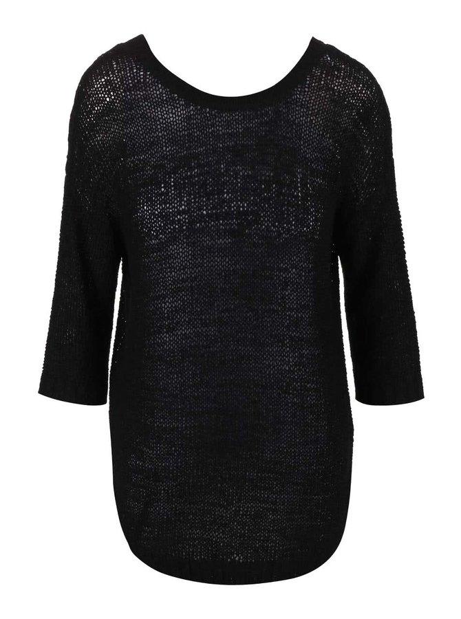 Čierny sveter s 3/4 rukávmi VILA Pray
