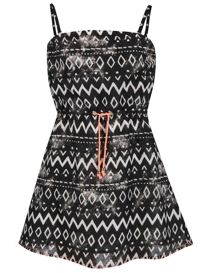 Bielo-čierne šaty so vzormi Blue Seven