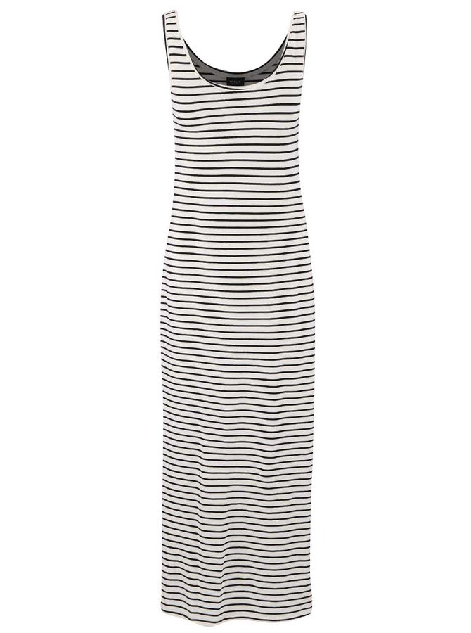 Krémové pruhované maxi šaty VILA Honesty New