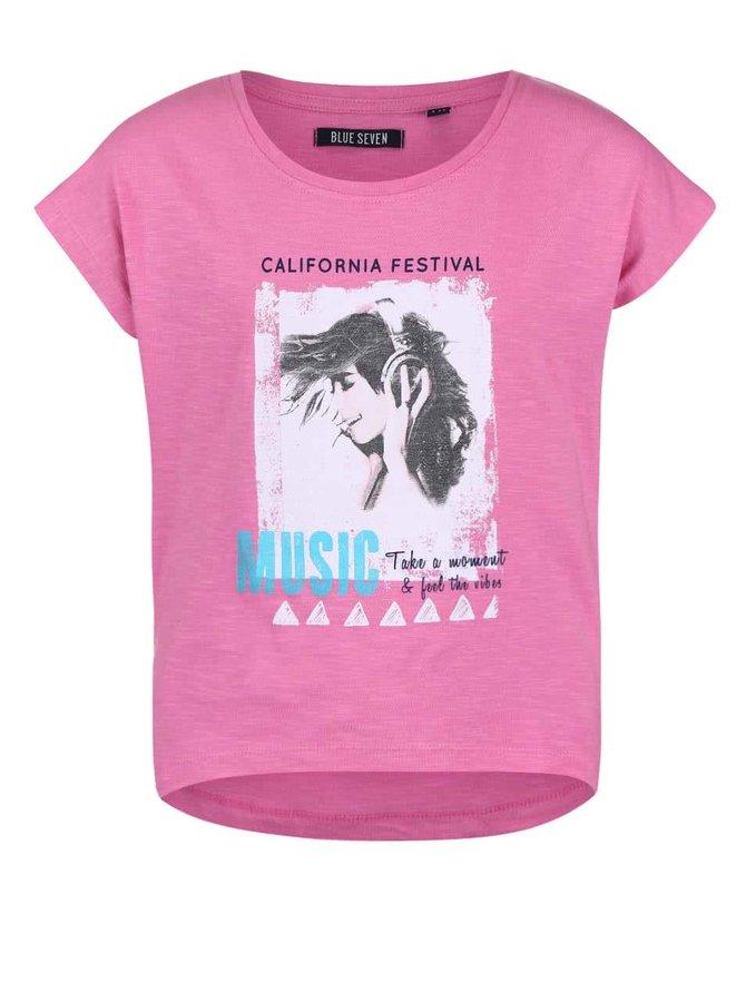 Růžové holčíčí tričko s potiskem Blue Seven