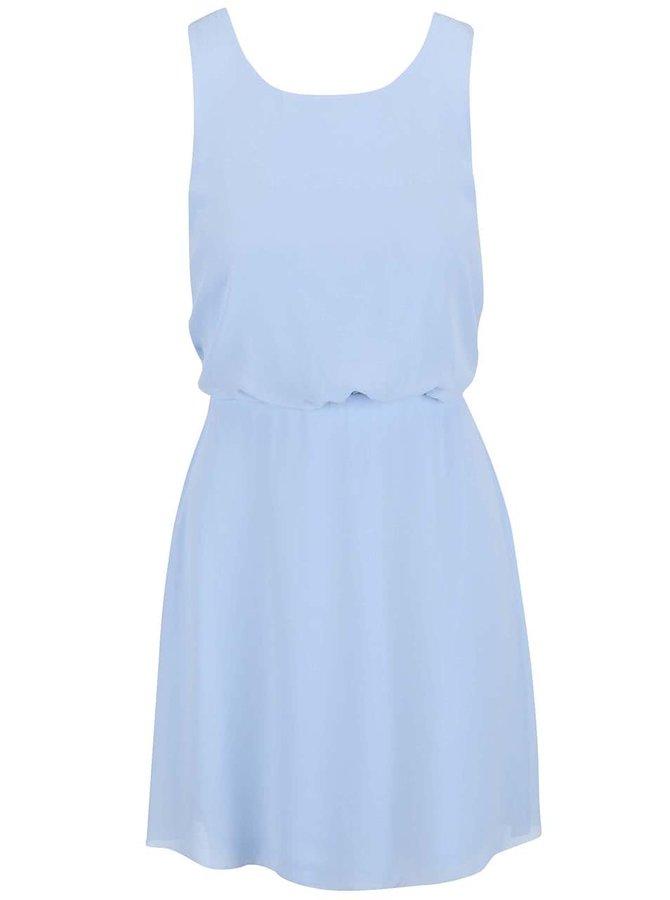 Svetlomodré šaty s čipkou na chrbte VILA Kono