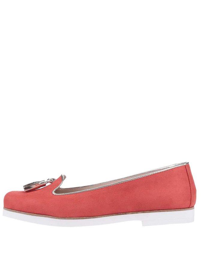 Červené loafers OJJU