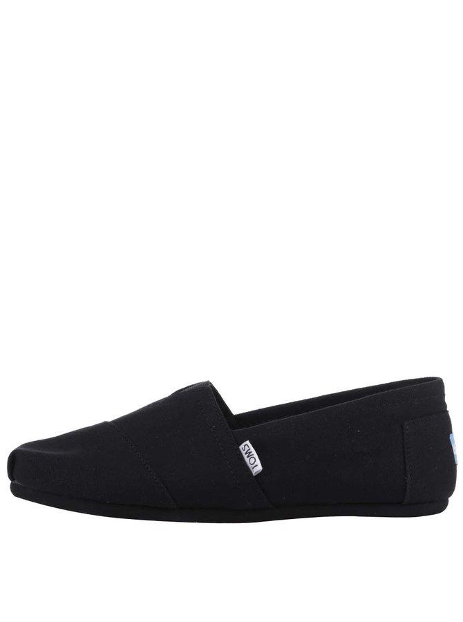 Čierne pánske loafers TOMS