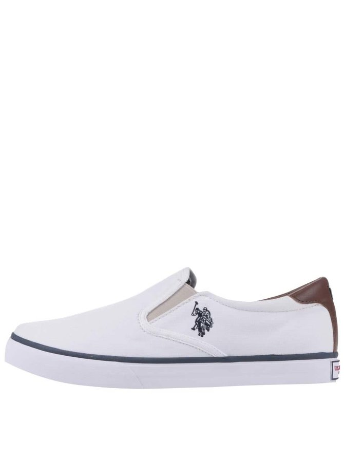 Teniși Slip-On U.S. Polo Assn. Leroy albi