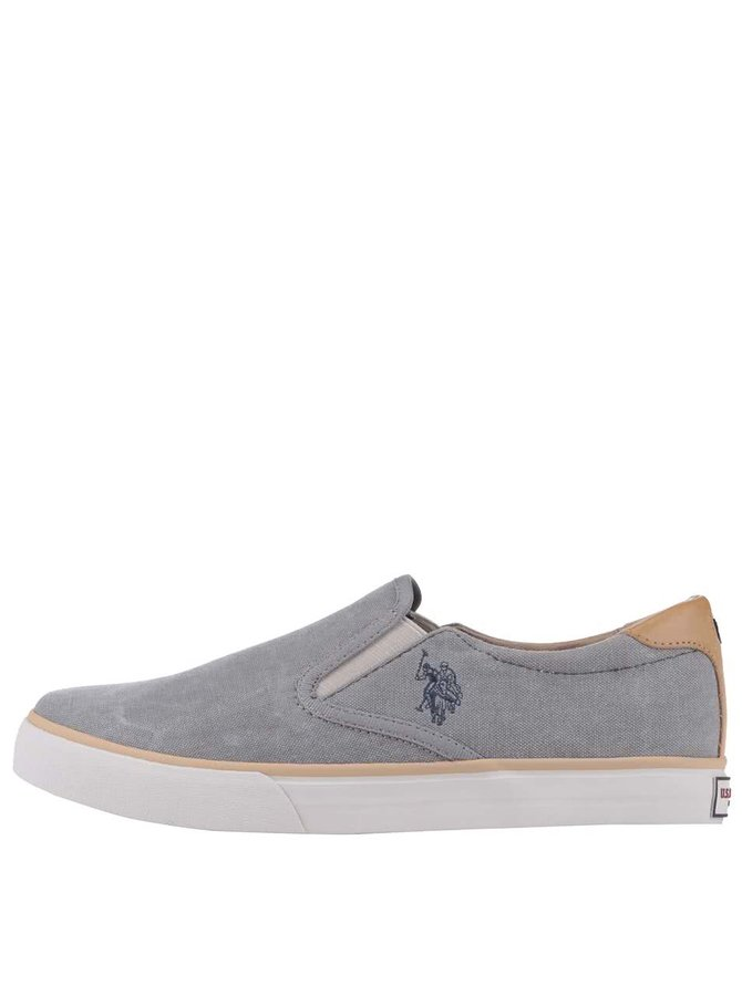Teniși Slip-On U.S. Polo Assn. Leroy gri