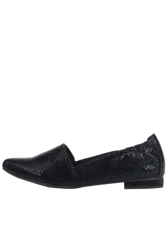 Černé strukturované loafers Tamaris
