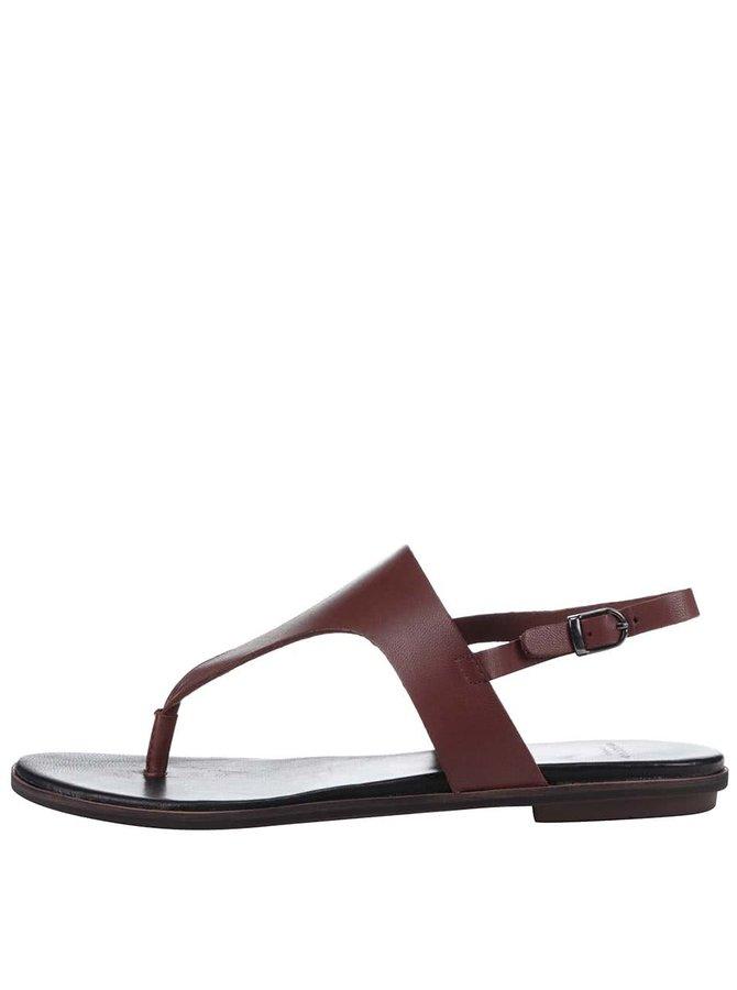 Hnedé kožené sandálky Vagabond Natalia