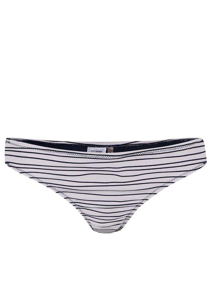 Bílý spodní díl plavek s pruhy VERO MODA Stripies